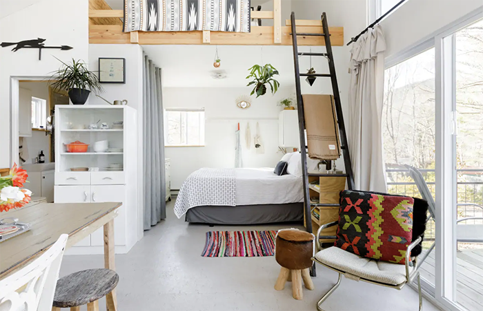 Eclectic and Stylish Cottage interior