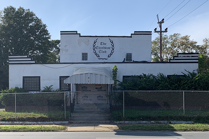 The historic Excelsior Club on Beatties Ford