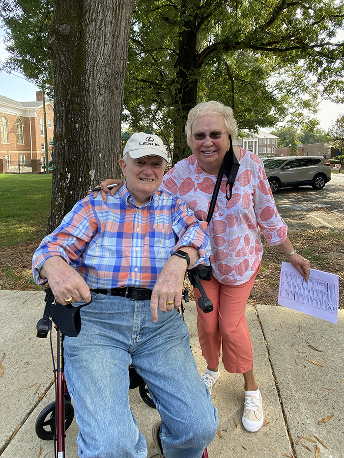 Louie and Shirley Strickland vote at Matthews Elementary 2020 election