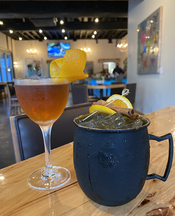 grinning mule plaza midwood restaurant fall cocktail