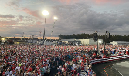What it was like in the crowd with 23,000 people at Trump's Gastonia rally