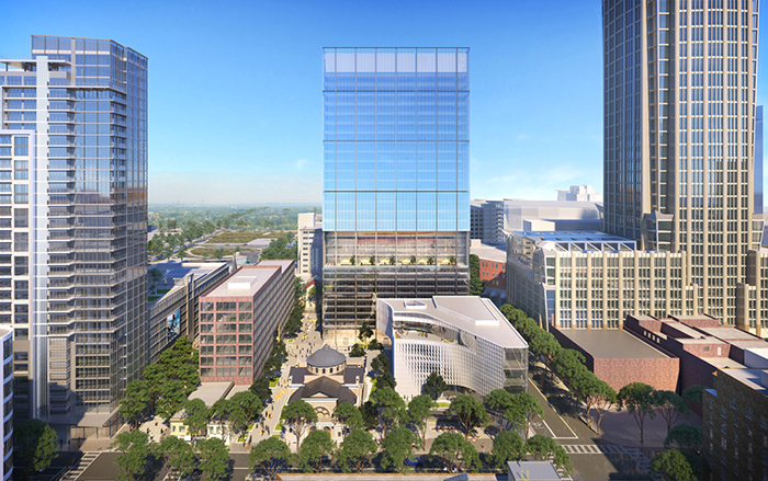 Rendering of the Seventh and Tryon project Uptown