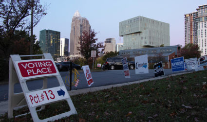 Election Day in Charlotte brings worries, weapons, and lots and lots of waiting