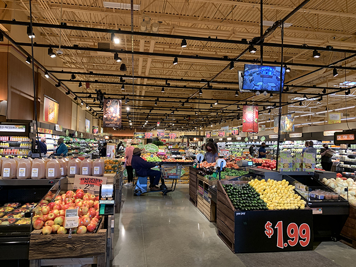 Produce section at the Wegmans store in Morrisville