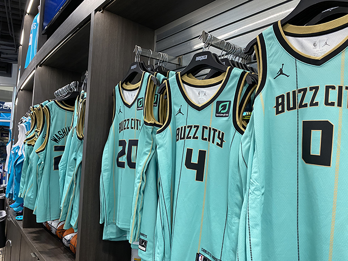 Hornets mint green City Edition jerseys