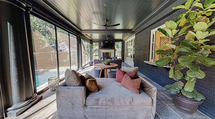 1508 Dilworth Road screened-in porch