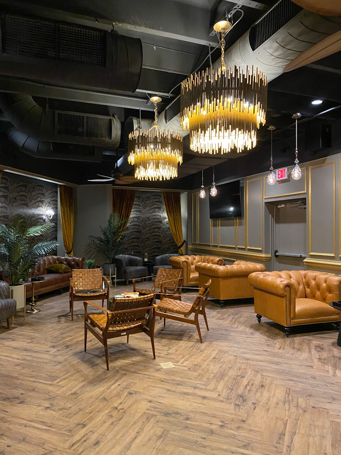 The Vintage Cigar and Whiskey Bar members lounge