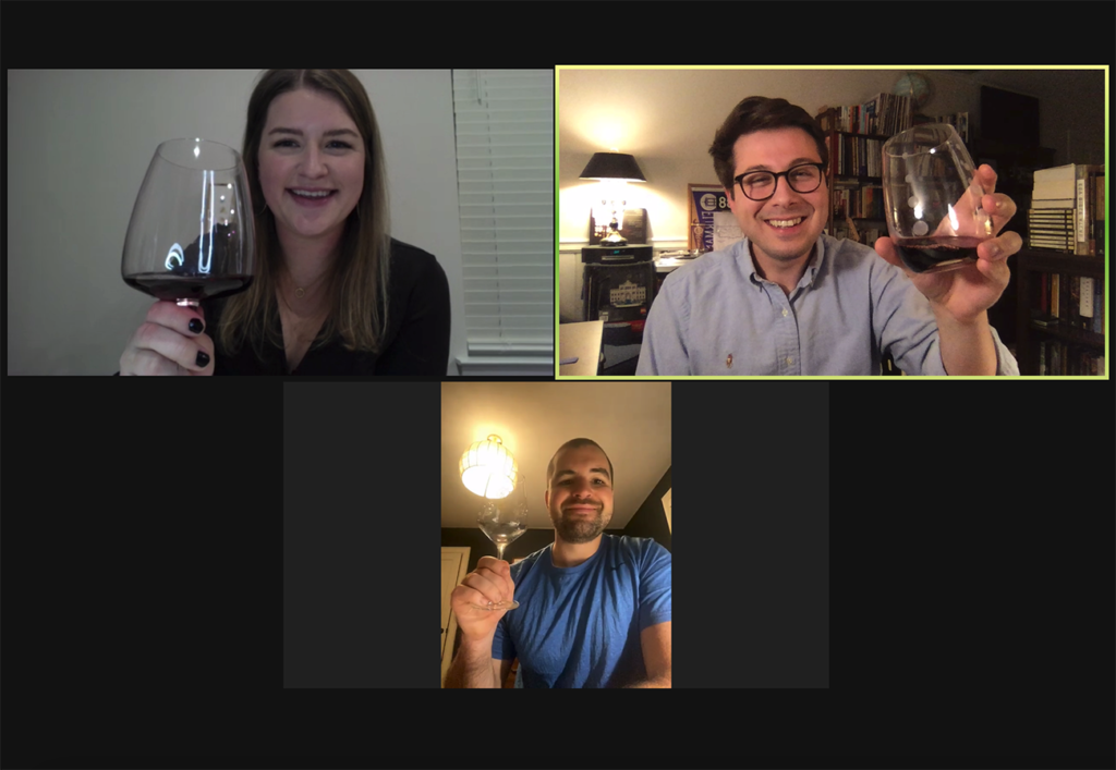 Blind Date: AJ and Jenna sip their way through a virtual wine tasting
