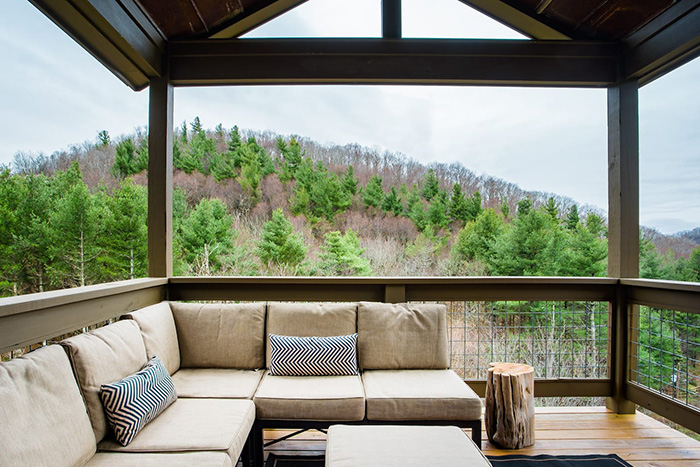 Serene Home with Mountain Views porch
