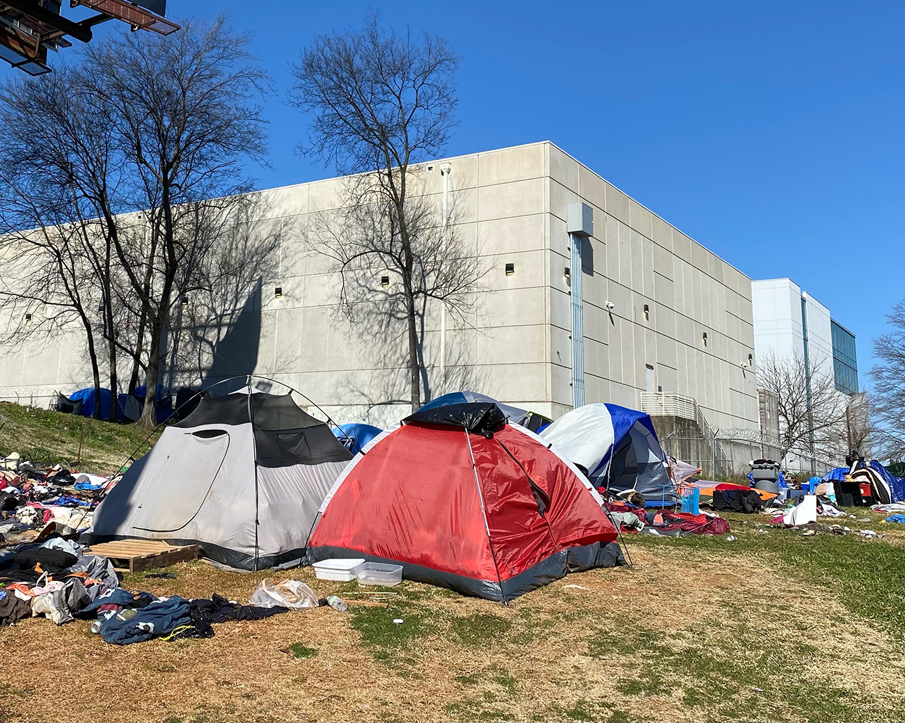 """""""Tent City"""" residents receive hotel offer"""