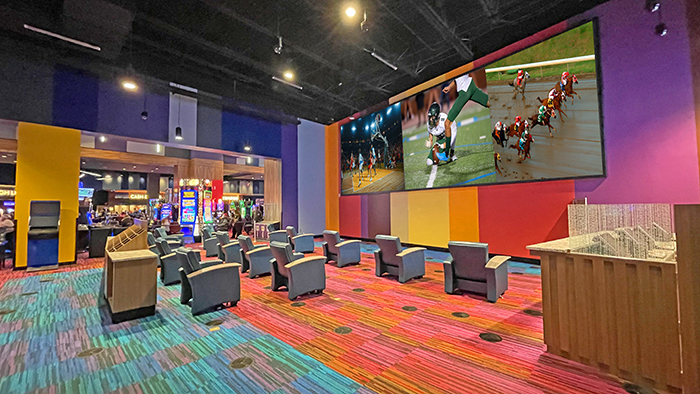 sports Book at Cherokee casino in Murphy