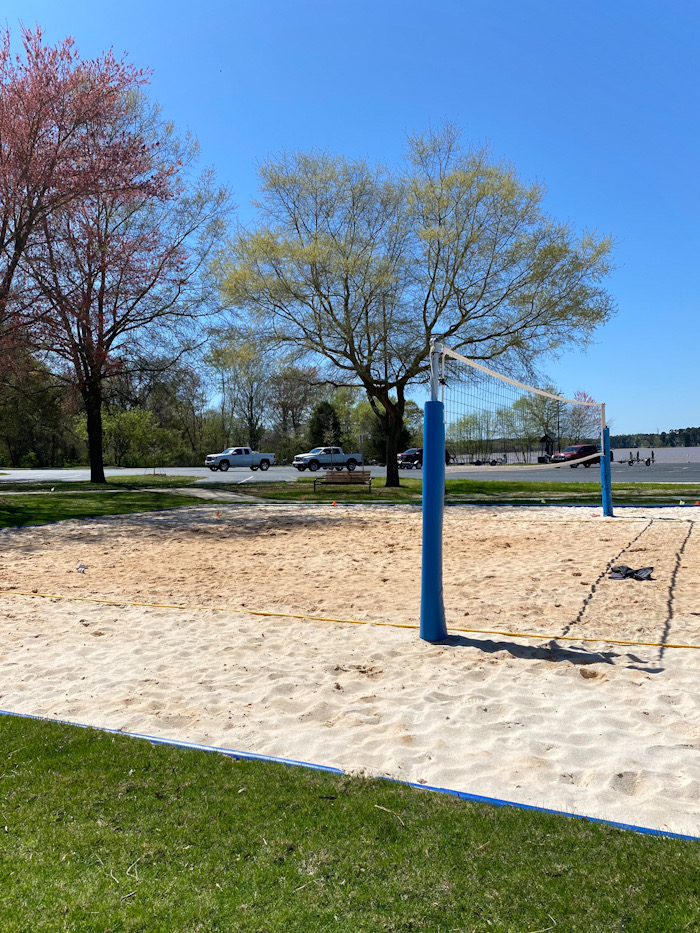Beach volleyball at Ebenezer Park Lake Wylie, SC