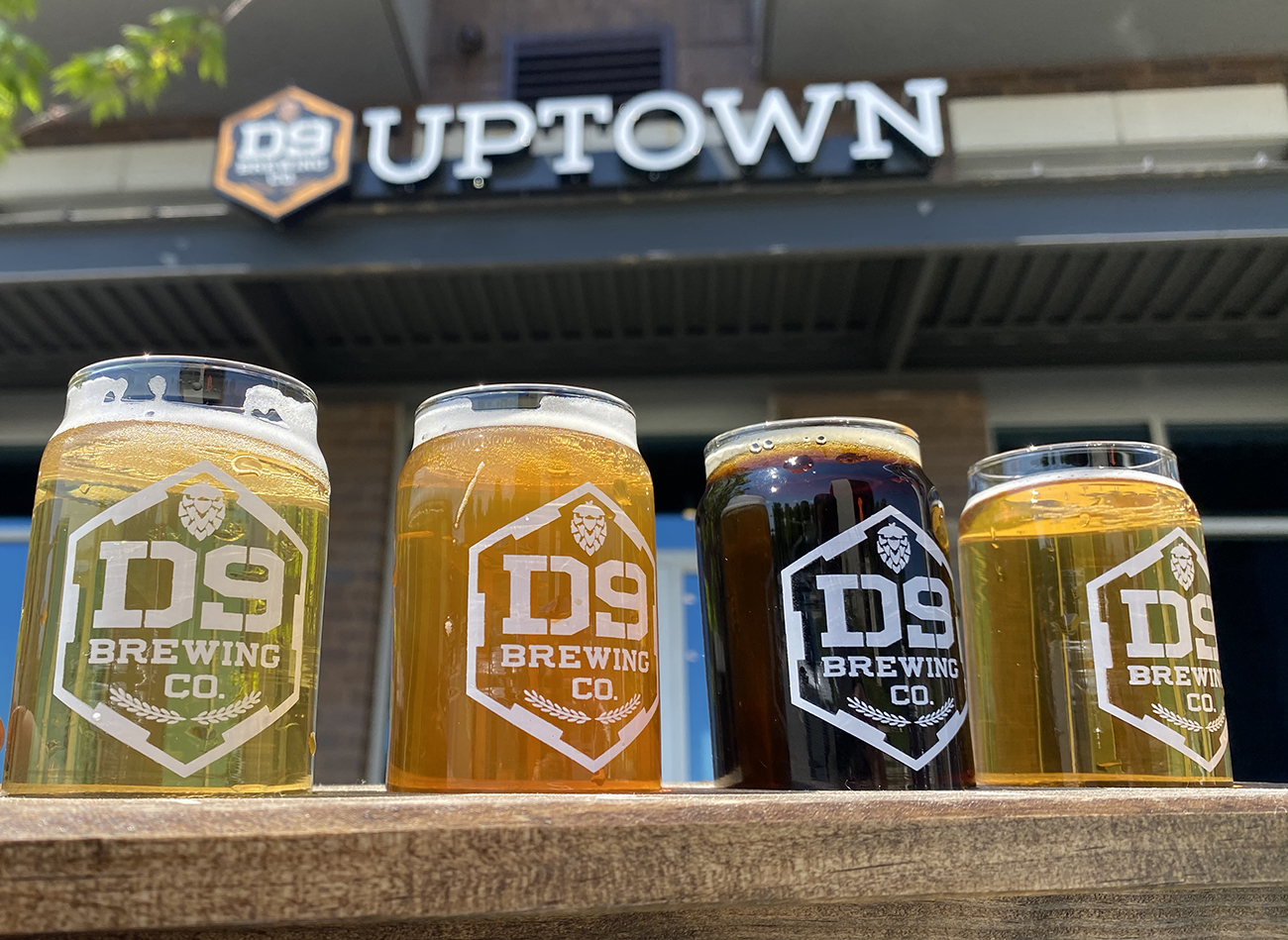 D9 Brewing is now open Uptown. Seltzer slushies and outdoor pavilion to come