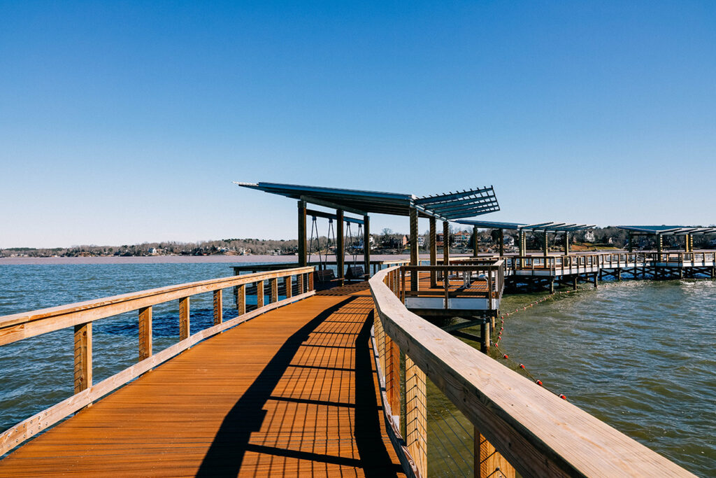 Guide to Rock Hill's lakefront beach with outdoor movies and beach volleyball