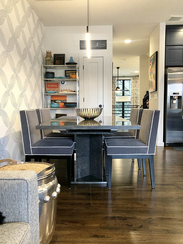 NoDa townhouse home tour dining room