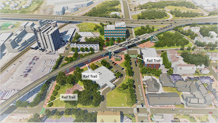 Silver Line light rail rendering courtesy of CATS