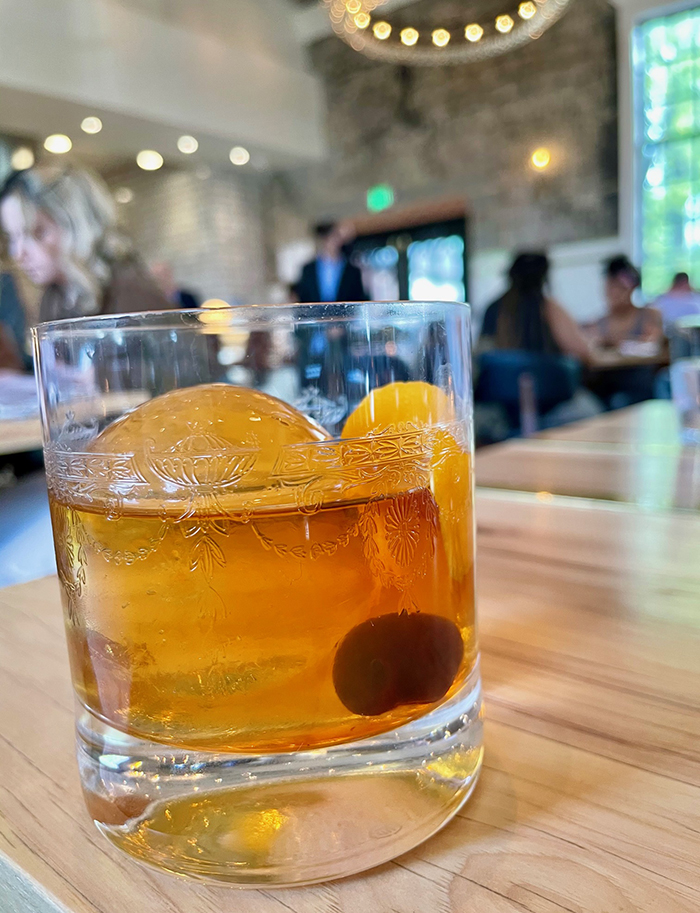 old fashioned cocktail at supperland