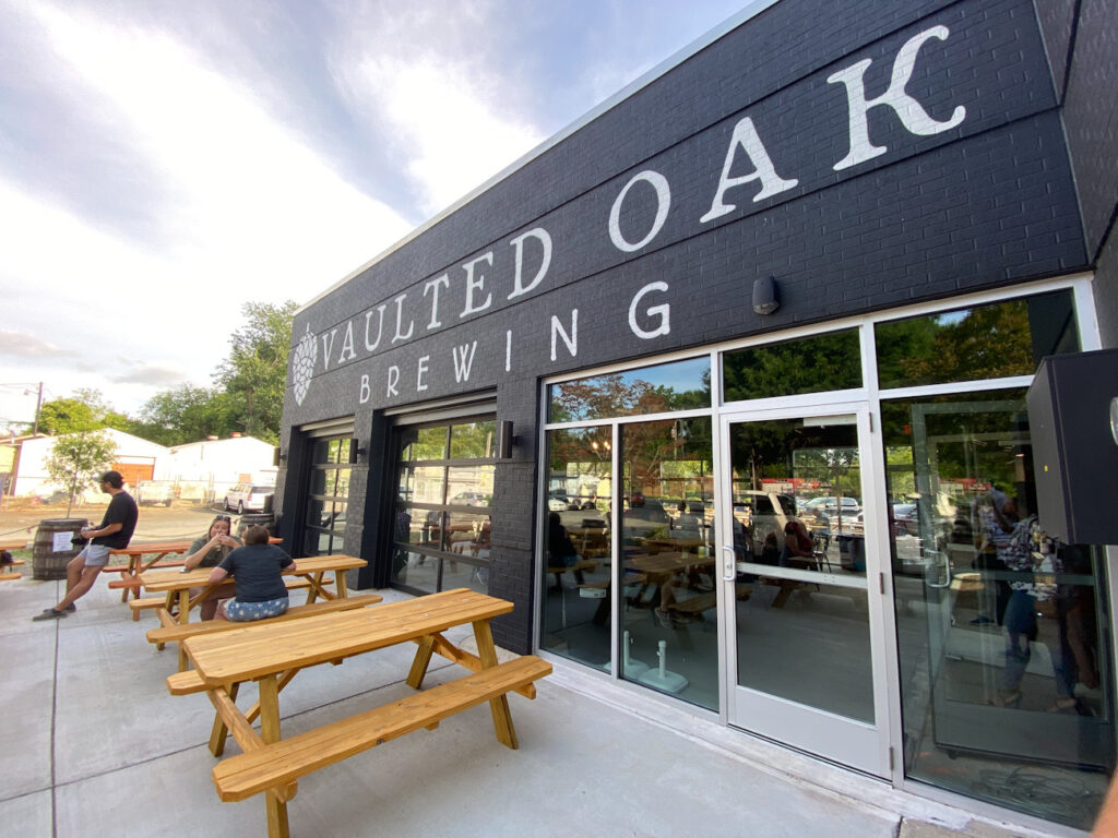 The bank-turned-brewery Vaulted Oak is now open