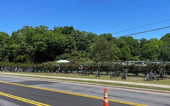 bicycle parking quail hollow