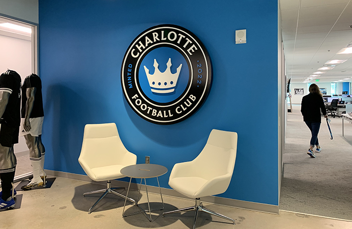 Charlotte FC offices (Photo: Katie Peralta Soloff/Axios)