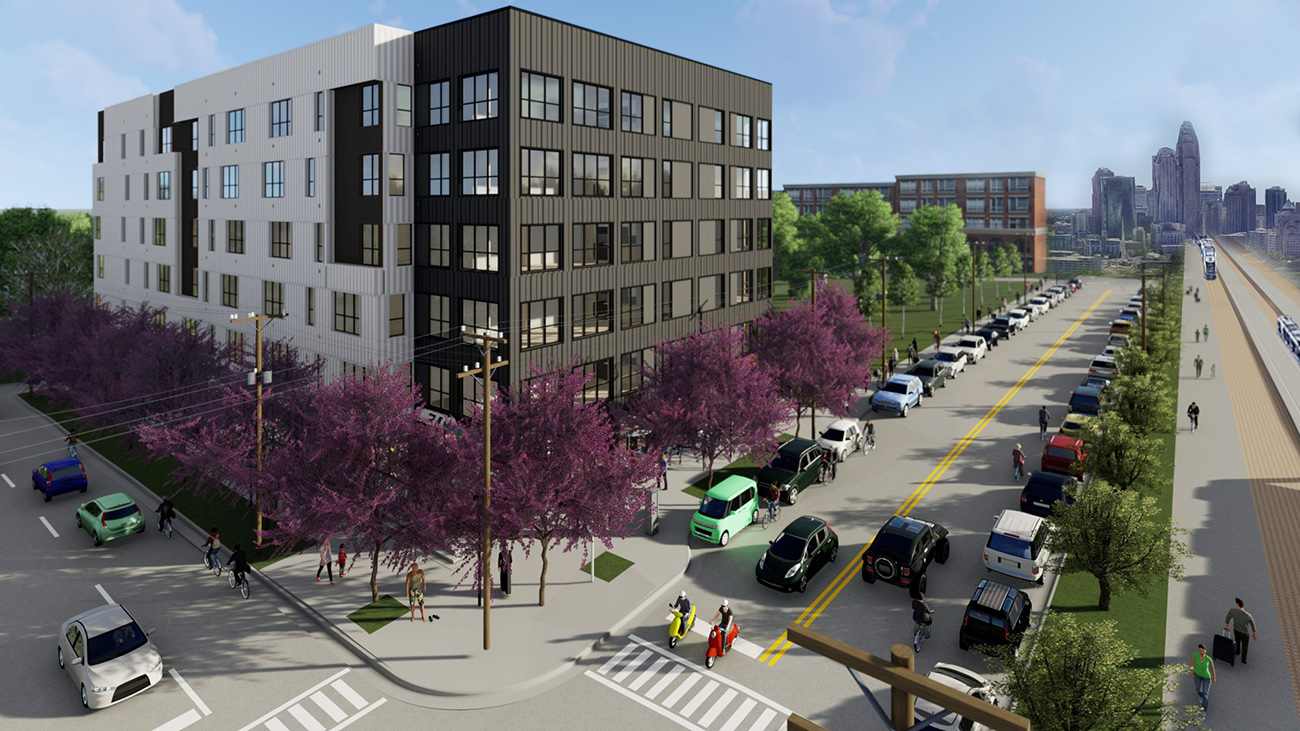 Charlotte's first car-free apartments are well underway in Optimist Park - Axios Charlotte