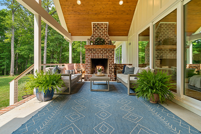 7210 Sample Road main house outdoor living room