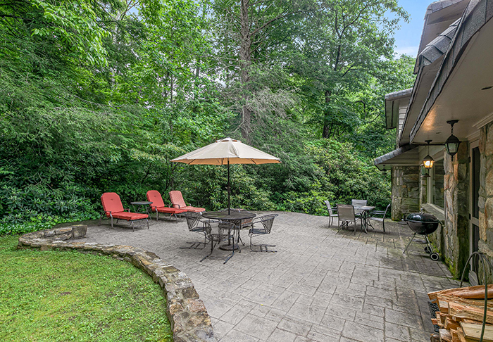 Billy Graham's house for sale Montreat NC patio