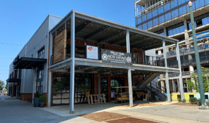 Two-story brewery and food hall opening soon at Atherton Mill