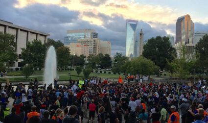 The fate of Marshall Park, Uptown's protest site. Plus, a timeline of notable events there