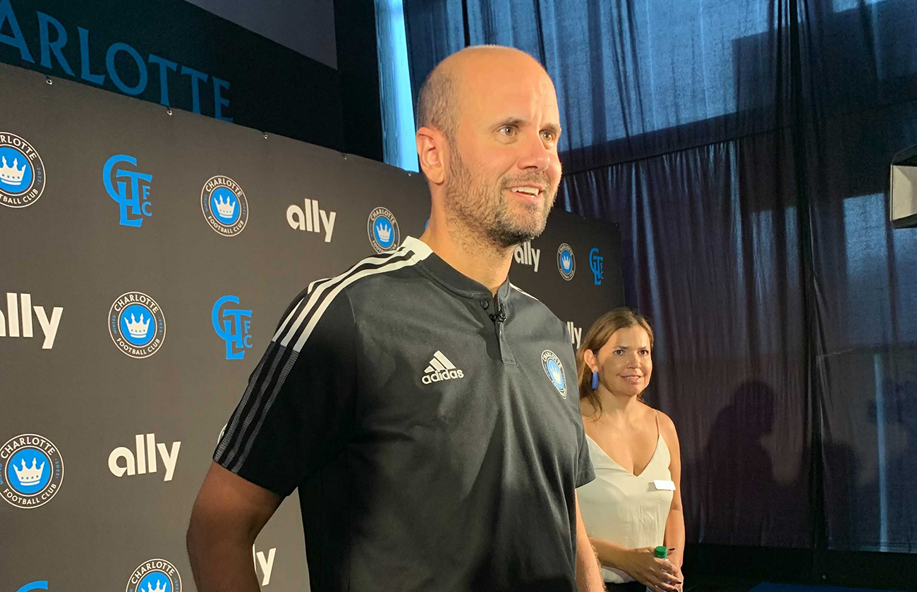 Charlotte FC welcomes new head coach in Ted Lasso fashion