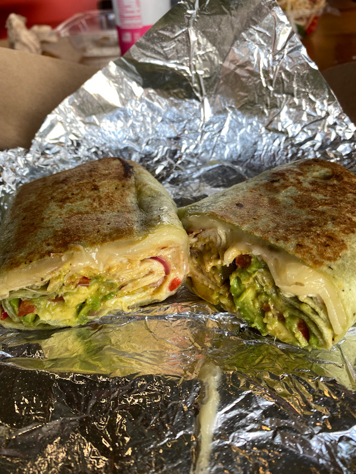 Spicy turkey wrap from Common Market