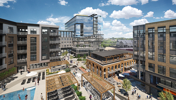 Commonwealth, a redevelopment of the 12-acre Central Square shopping center in Plaza Midwood