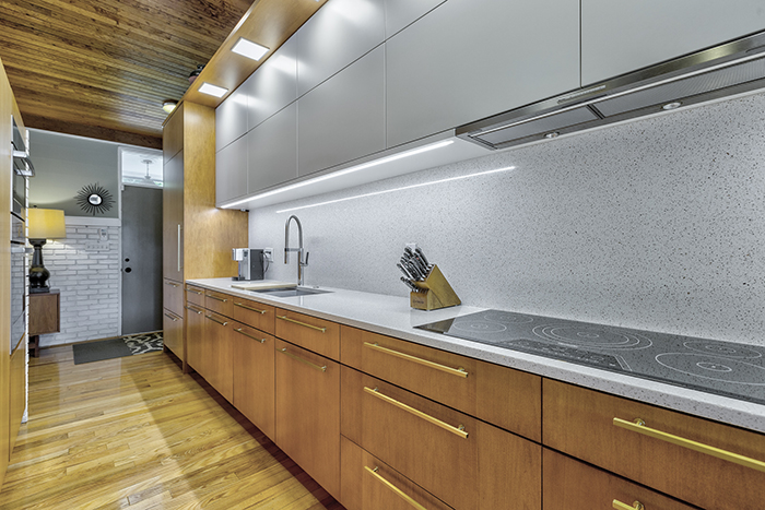 mid-century modern house tour on wylie lake cabinets