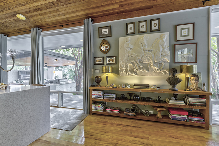 mid century modern home visit on wylie lake details