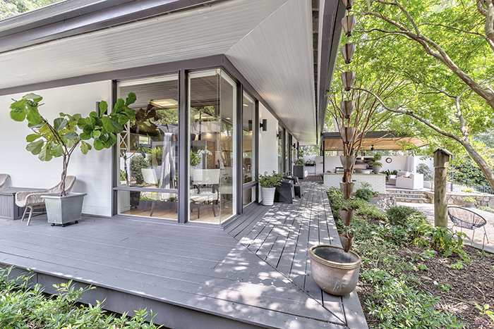 Mid-Century Modern Home Visit on Wylie Lake Porch