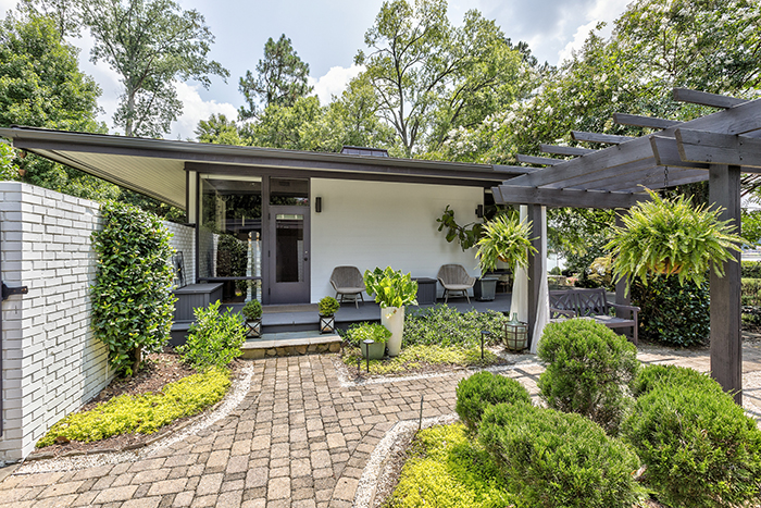 mid century modern home visit to wylie lake side gate