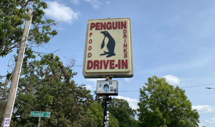 The iconic Penguin sign will be removed and relocated